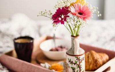 4 Enfeites de Flores Para Decoração Charmosa
