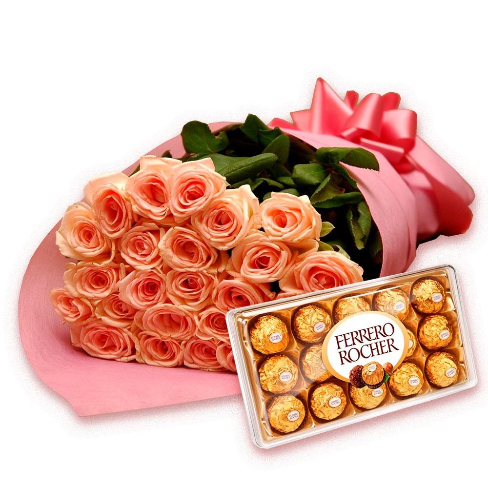 mensagem linda de natal buque de flores e chocolates
