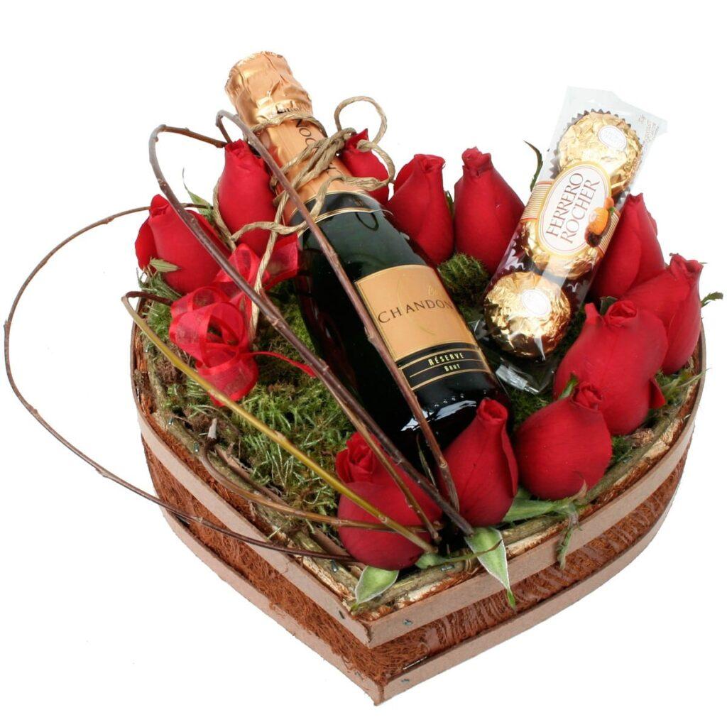 o que dar de presente para namorado rosas e chadornay