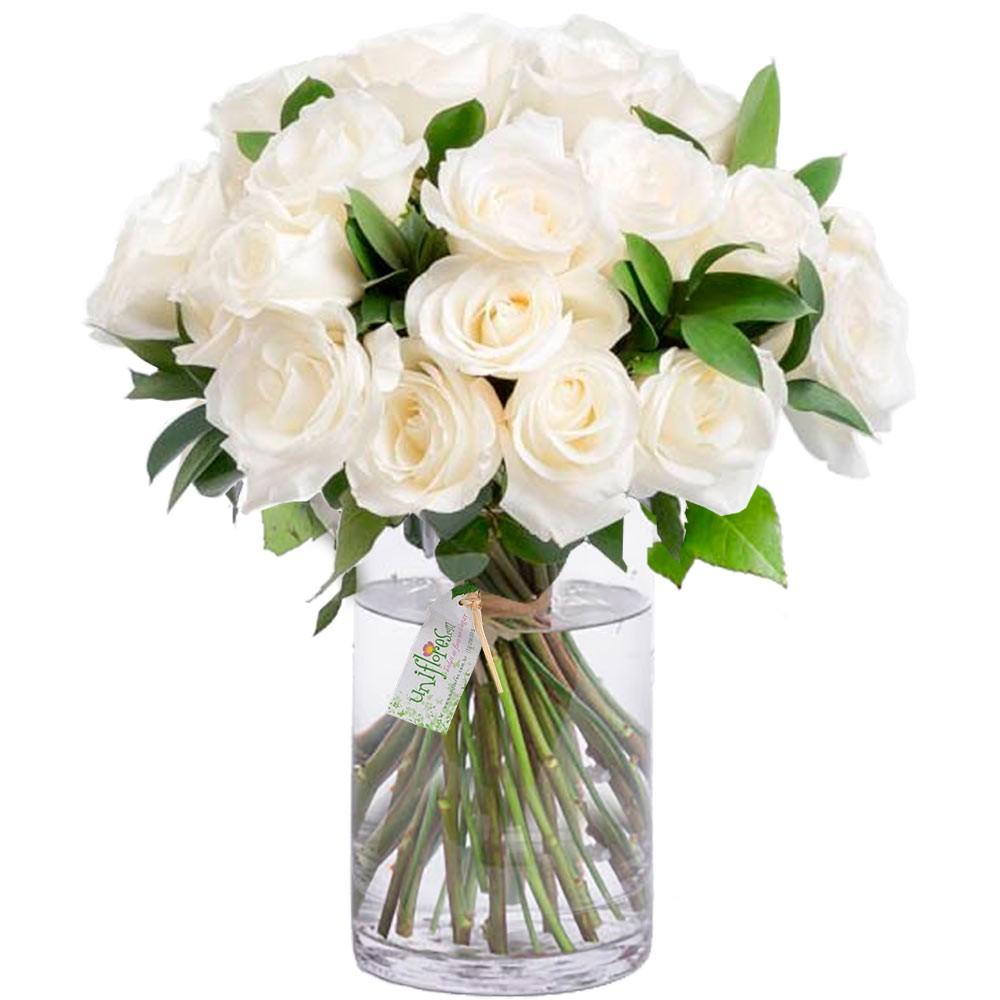 flor de cada signo rosas brancas